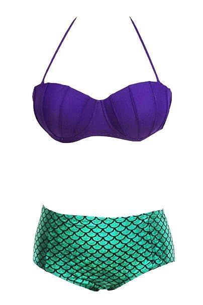 Amazon.com: iecool disfraz de la Sirenita Ariel de la mujer ...