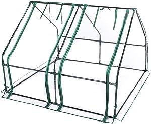 TOOCA Waterproof Greenhouse with 2 Large Doors 48