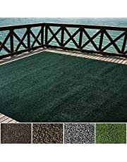 iCustomRug Indoor/Outdoor Turf Rugs and Runners Artificial Grass Many Custom Sizes and Widths Finished Edges with Binding Tape