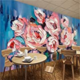 Mbwlkj 3D Room Wallpaper Abstract Peony Flower Oil Wall Painting Flower Wall Decor Bedroom Wall Designs Living Room Decorating Ideas-150Cmx100Cm