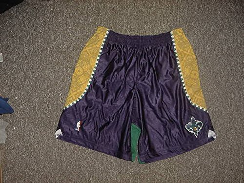 - Julian Wright Mardi Gras Adidas New Orleans Hornets Game Worn Shorts