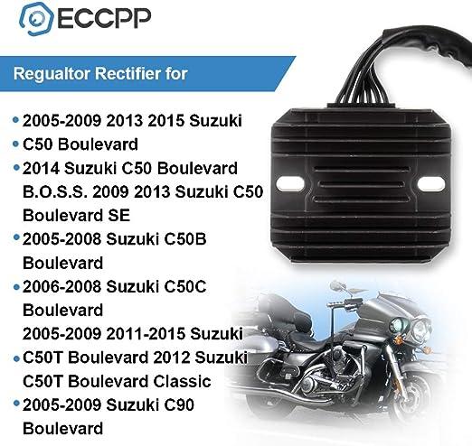 AUTOMUTO Rectifier Voltage Regulator Rectifier Fit for 2005-2009 2013 2015 Suzuki C50 Boulevard 2014 Suzuki C50 Boulevard B.O.S.S 2009 2013 Suzuki C50 Boulevard SE