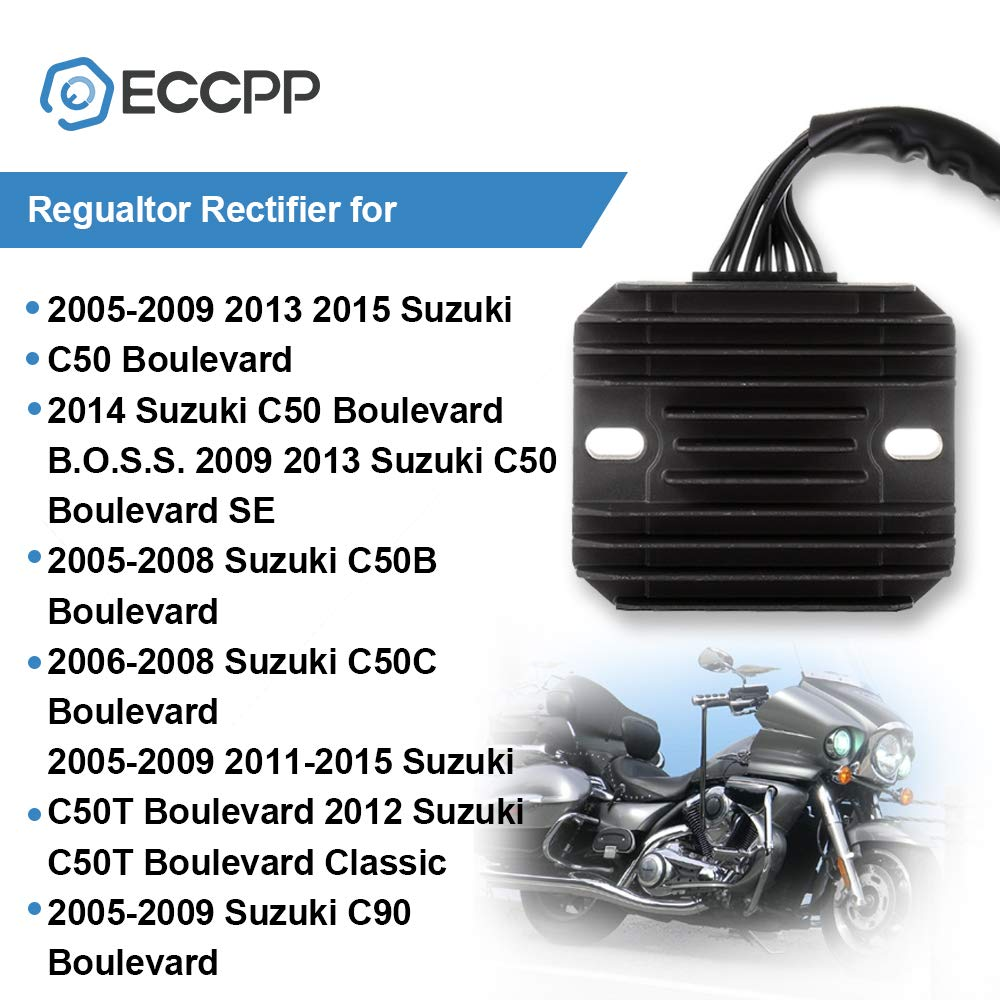 ECCPP Voltage Regulator Rectifier Fit for 2001-2004 Suzuki Intruder Volusia 800 2008-2009 Suzuki Katana 650 2009 2013-2015 Suzuki SFV650 2007-2009 2011-2015 Suzuki Vstrom 650 Rectifier Regulator