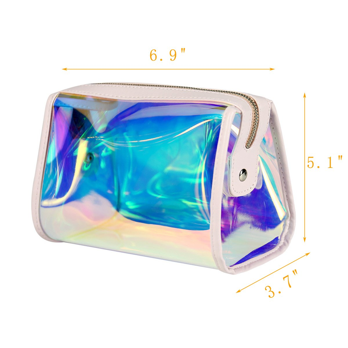 Andear Women's PVC Clear Hologram Transparent Clutch MakeUp Purse Bag for Girls by Andear (Image #7)