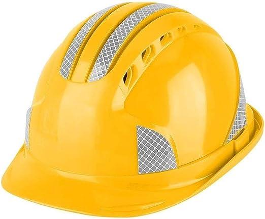 GHMHJH Casco De Seguridad Laboral, Casco Protector Industrial ABS ...