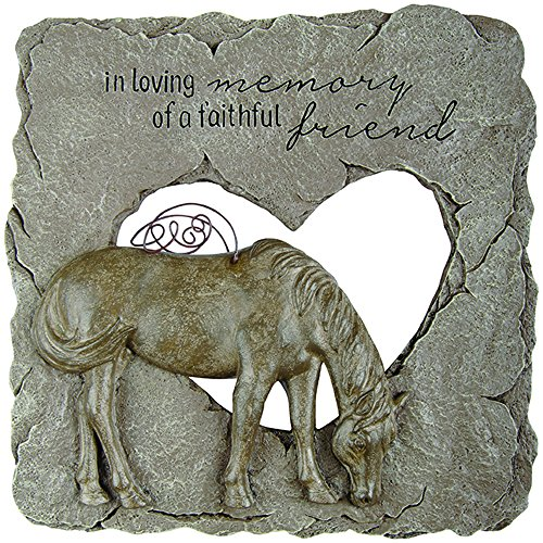 Memorial Stone-Devoted Angels-Horse (9.5