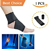 Ankle Brace Support, Plantar Fasciitis with Adjustable Straps- Ankle Wrap for Running Basketball Ankle Sprain Men Women. Muscle Strain, Injury Recovery for Sports