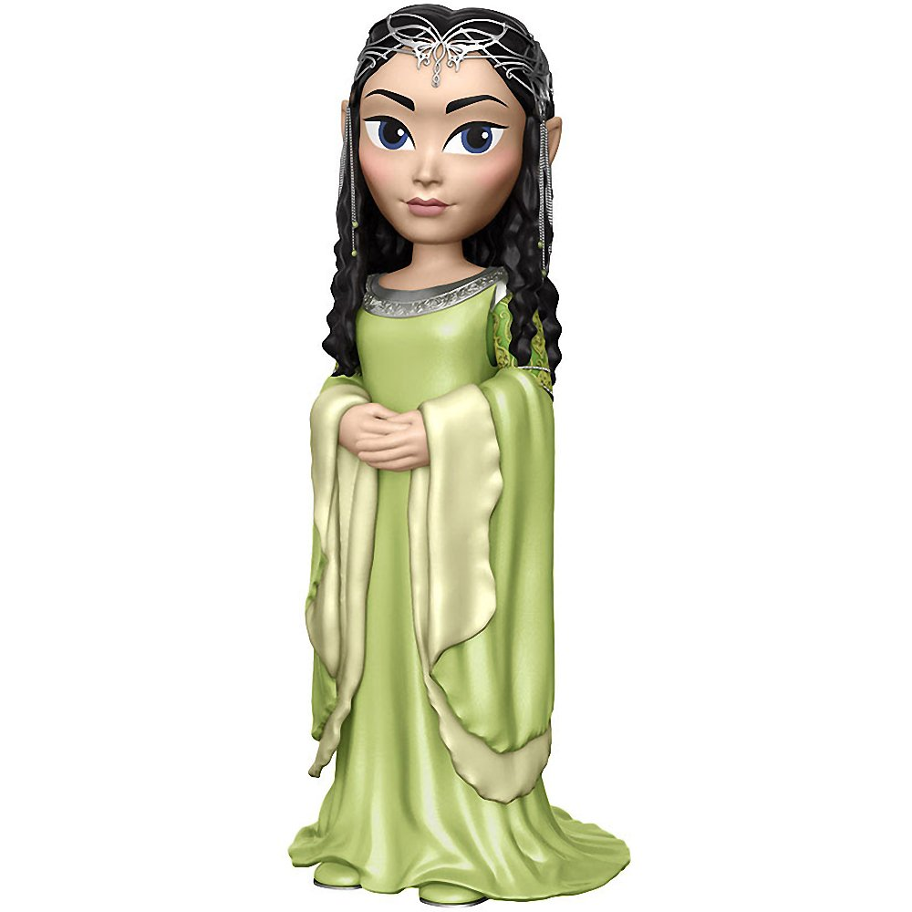 Funko Arwen Rock Candy x The Lord of The Rings Vinyl Figure 1 Free Official Hobbit Trading Card Bundle 13646