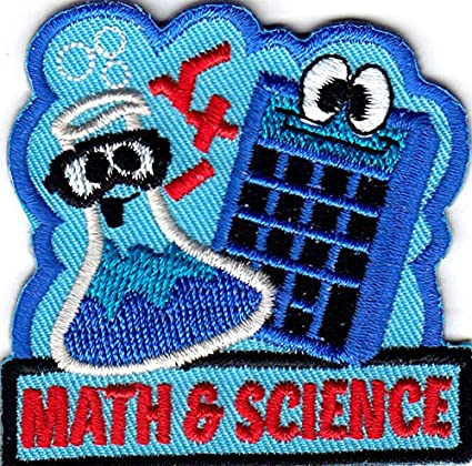 """Math Research /""""MATH /& SCIENCE/"""" Iron On Embroidered Patch//School Learning"""