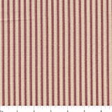 """54"""" Red/Beige Cotton Duck Ticking Fabric-20 Yards Wholesale By the Bolt"""