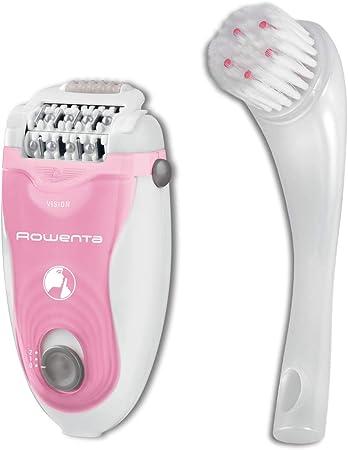 Depiladora Rowenta SILENCE SOFT EP5617F0 - Cabezal giratorio 24 pinzas de alta precisión con tecnología Micro-Contact, 2 velocidades, Sistema de masaje, Cepillo limpiador, Neceser, Cepillo Facial: Amazon.es: Salud y cuidado personal