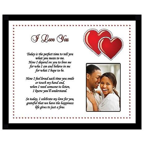 Amazoncom Romantic Love Poem Frame For Boyfriend