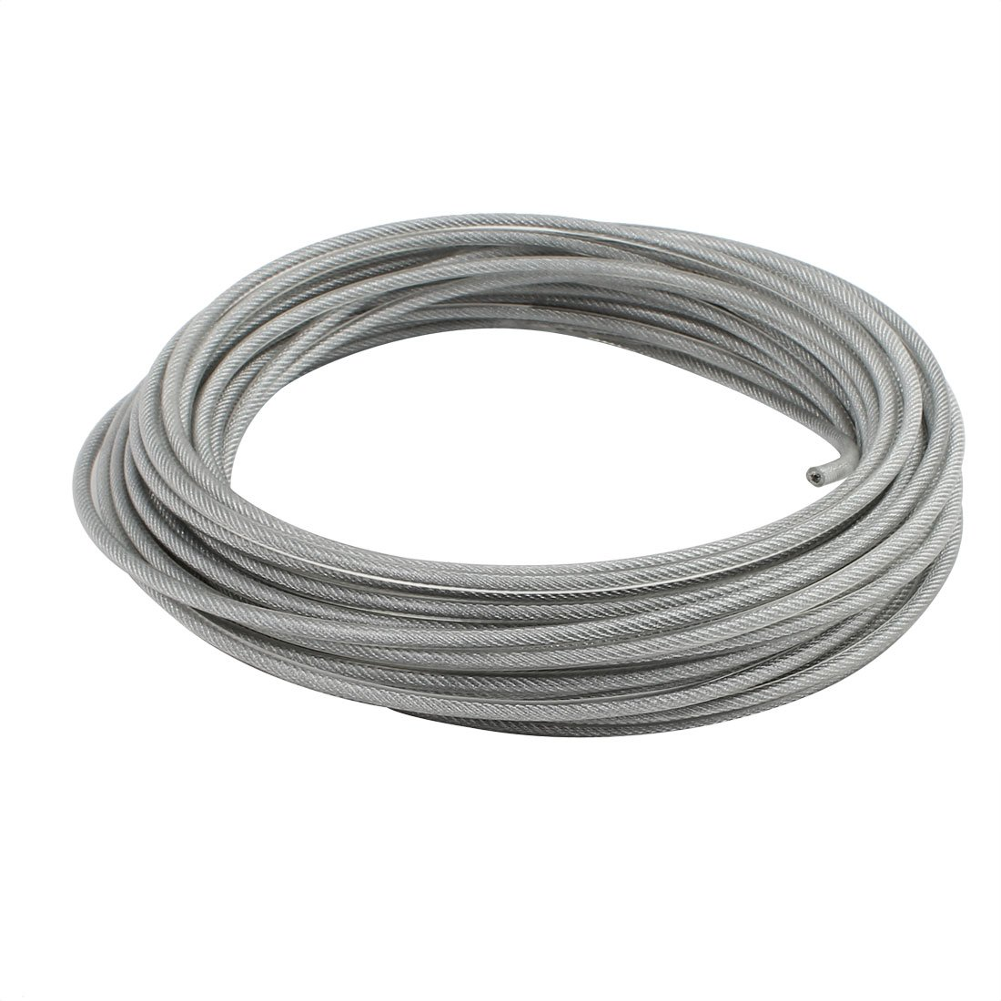 uxcell 4mm Diameter Vinyl Coated Wire Rope Aircraft Cable 16 Meters Length