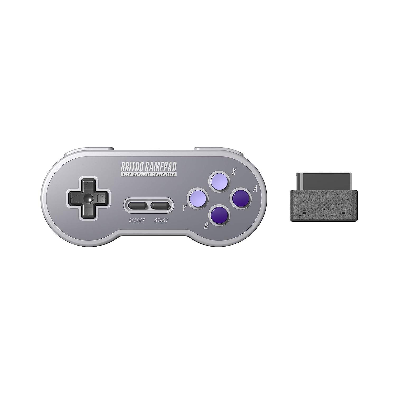 8Bitdo SN30 2.4G Wireless Gamepad for Original SNES/SFC (SN Edition) - Super NES: Video Games