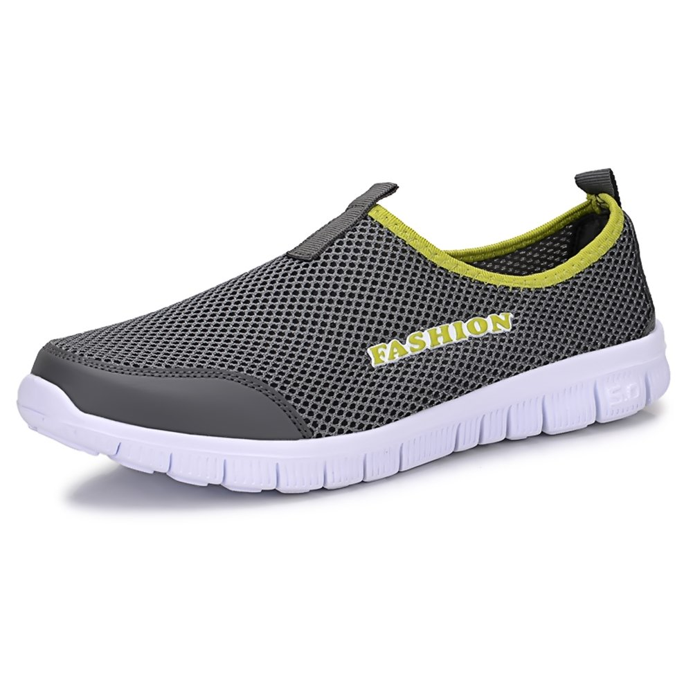 Sibba breathable Mesh Sneaker/Slip on, als Laufschuhe und Strandschuhe fuuml;r Damen und Herren  EU43/CN44 Dunkelgrau