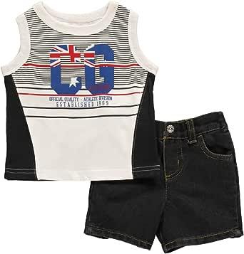 Amazon.com: Coogi Baby Boys Black Athletic Division 2Pc