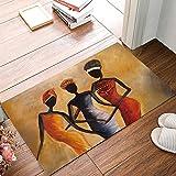 OneHoney Africa Women Door Mats Kitchen Floor Bath Entrance Rug Mat Absorbent Indoor Bathroom Decor Doormats Rubber Non Slip