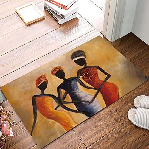 OneHoney Africa Women Door Mats Kitchen Floor Bath Entrance Rug Mat Absorbent Indoor Bathroom Decor Doormats Rubber Non Slip by OneHoney