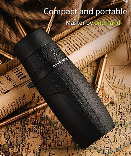 8X25 Eyeskey 8X25 Mini Compact Monocular Telescope Palm Size Lightweight Clear Bright Images Waterproof Fog Proof HD Scope for Wildlife Hiking Concert Sporting Events