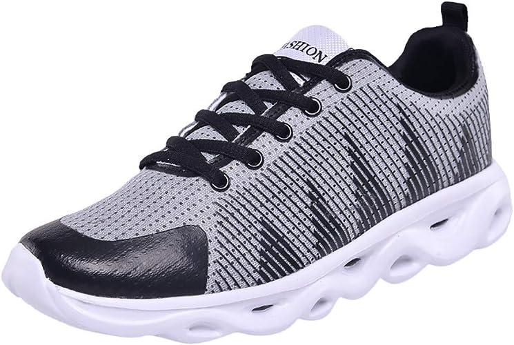Makalon - Zapatillas de Seguridad para Hombre, Zapatillas de Running, Deporte, Fitness, Gimnasio, al Aire Libre, con cojín para Hombre, Zapatos de Invierno, Negro (Negro), 40 EU: Amazon.es: Zapatos y complementos