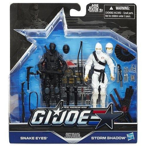 G.I. Joe, 50th Anniversary, Arashikage Clash Action Figure Set (Snake Eyes vs Storm Shadow), 3.75 Inches ()
