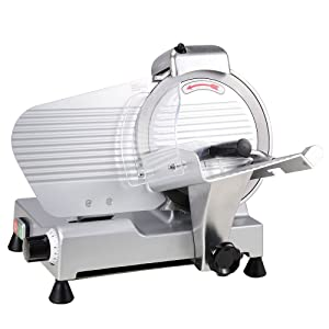 """Yescom 10"""" Electric Slicer 240W 530RPM Commercial Meat Slicer for Cheese Food Deli Stainless Steel Cutter"""