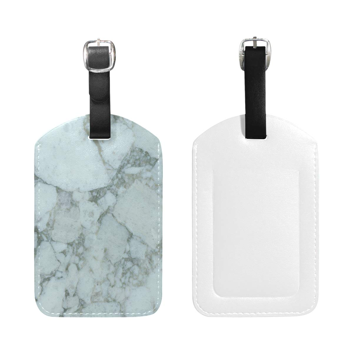 Aibileen Rose Gold Marble PU Bag Baggage Suitcase Luggage Tags Travel Accessories 1 Piece