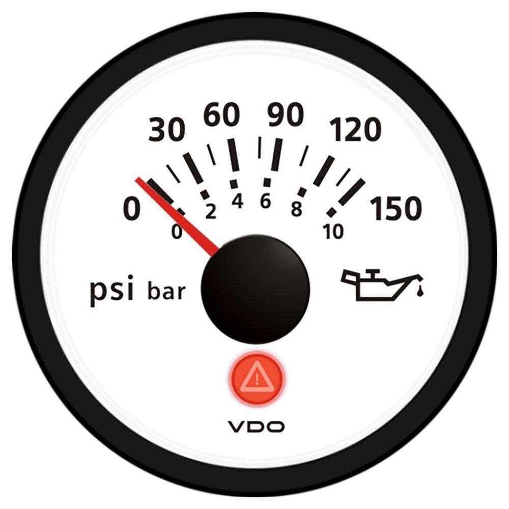 VDO Viewline 150 PSI/10 Bar Oil Pressure Gauge 12/24V - Use Sender A2C53413312-S