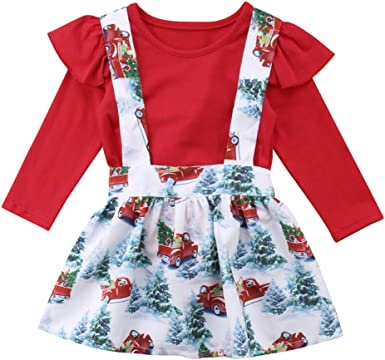 Wine Red, 12-24 Month Toddler Baby Girl Dress Floral Rompers Strap Skirt Overall Outfits Clothes