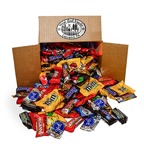 (Easter Chocolate Candy Assortment (5.6 lb Bag) Reese's, Milky Way Bars, M&Ms, Snickers, Peanut M&Ms, Twix, Kit Kat, Almond Joy, York, 100)