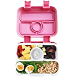 Bento Lunch Box for Kids by Fenrici, Leak-Proof Kids Lunch Box, Removable Tray for Easy Cleaning, Perfect Portion Sized for Ages 5-12, BPA Free, Food Safe, Support a Great Cause, Pink