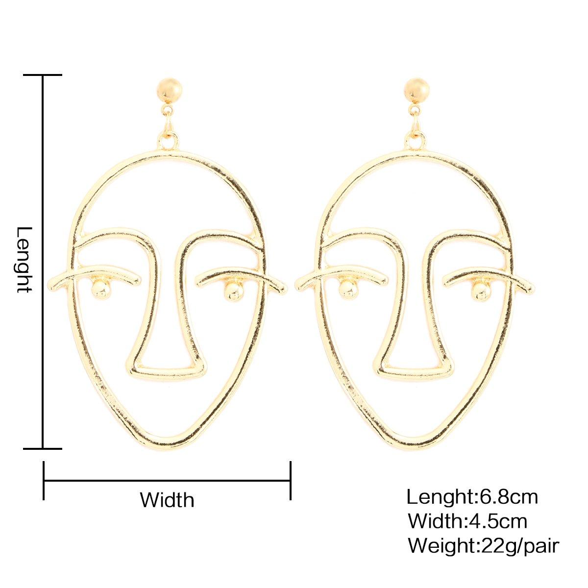 Pendants d/'oreille /à motif visage humain argent/ées