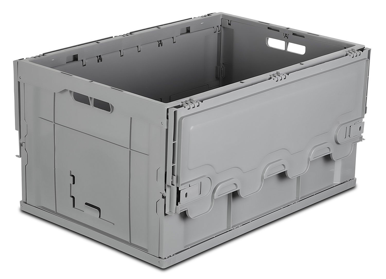 Mount-It! Foldable Plastic Storage Box, 65L Liter Capacity