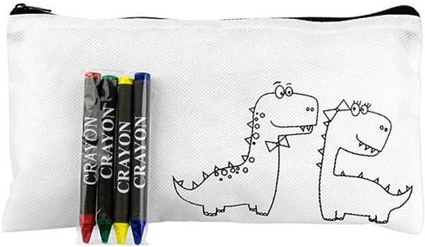 MIRVEN Lote de 20 Estuches Dragones para Colorear con 4 Ceras Incluidas Cada uno - Estuches para Colorear Infantiles Cumpleaños Originales: Amazon.es: Juguetes y juegos