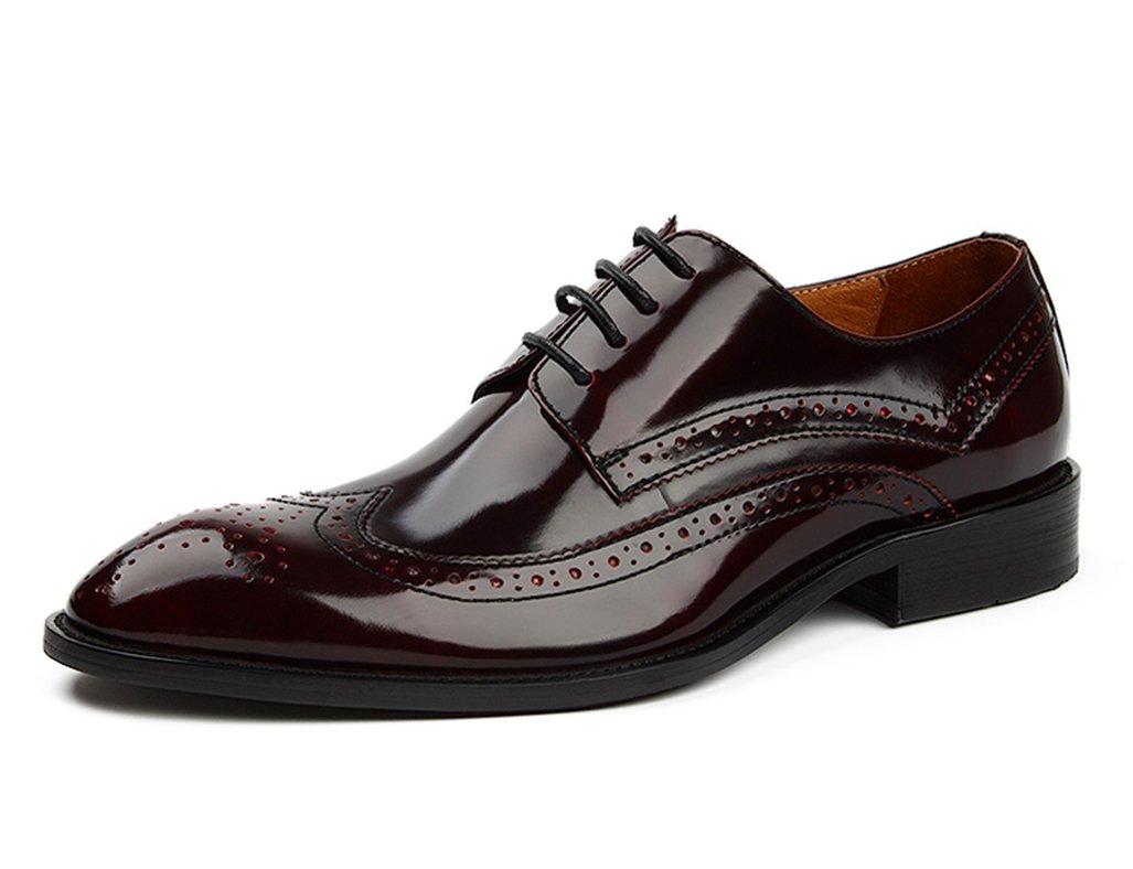 Herren Lederschuhe Lederschuhe Lederschuhe Herrenschuhe Britischen Stil Business Formal Wear Leder Spitze Breathable Single Schuhe wies Herrenschuhe ( Farbe   Weinrot , größe   EU37 UK4-4.5 ) 87d2af