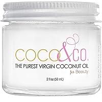 COCO & CO. 100% RAW Coconut Oil for Hair & Skin, Beauty Grade - Mini Jar, (2oz)