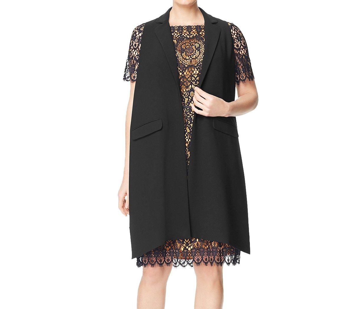 Marina Rinaldi Women's Caterina Open Style Vest, Black, 18W/27