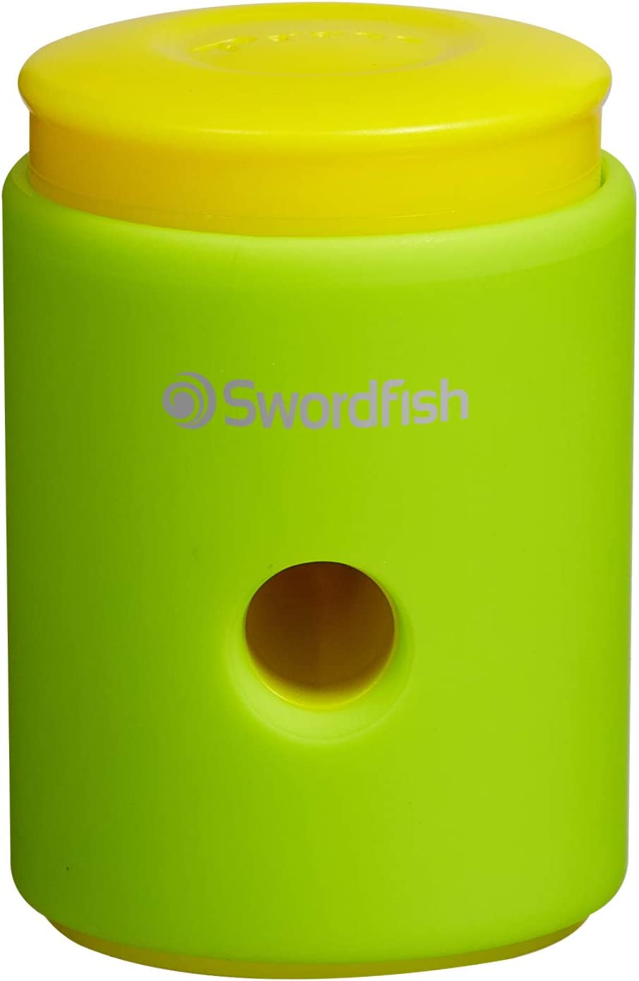 Pack of 1 SwordfishClick Click Soft-Touch Pencil Sharpener Assorted Colours