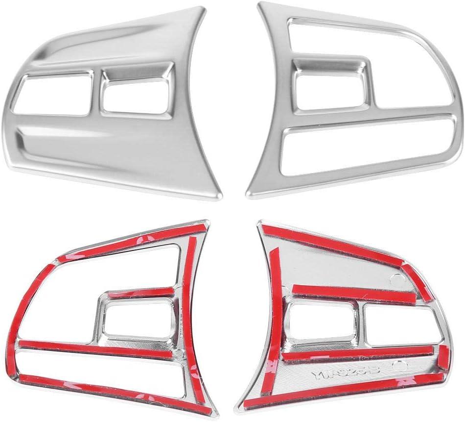 para 3 Series//GT F30 F34 2013-2018 Cromo mate Cubiertas interior del bot/ón del volante del coche KIMISS 2