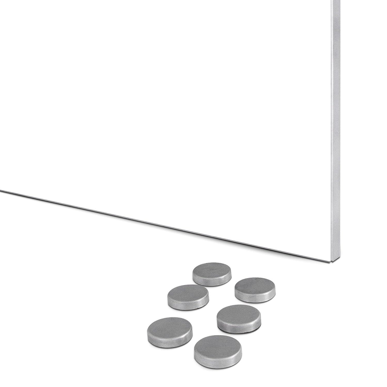 Magnetwand mit Motiv Pusteblume 2 Memoboard mit 6 Magneten BANJADO Design Magnettafel Edelstahl Schreibtafel magnetisch 35cm x 50cm
