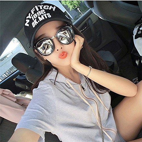 gafas ocasionales cara de 6 redonda femeninas gafas personalizadas Gafas enmarcadas la sol Ocho Lentes de de Shop de sol salvajes sol YgAxO