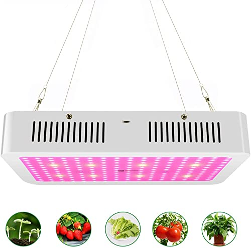 1000w LED Grow Light with Bloom and Veg Switch,iPlantop Triple-Chips LED Plant Growing Lamp Full Spectrum with Daisy Chained Design for Professional Greenhouse Hydroponic Indoor Plants White
