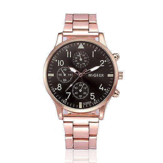 Cebbay Reloj de Cuarzo de los Hombres Correa de aleación de Titanio Reloj de Cristal de