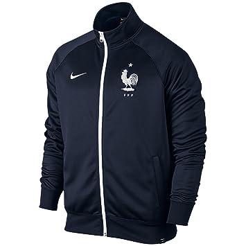 1dc20536522d Nike Fédération française de Football 2015 2016 Core Trainer Veste Officiel  pour Homme L Negro