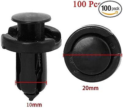 100 Pcs Plastic Trim Boot Rivets Retainer Clip  Dia Hole 10mm for Honda Acura