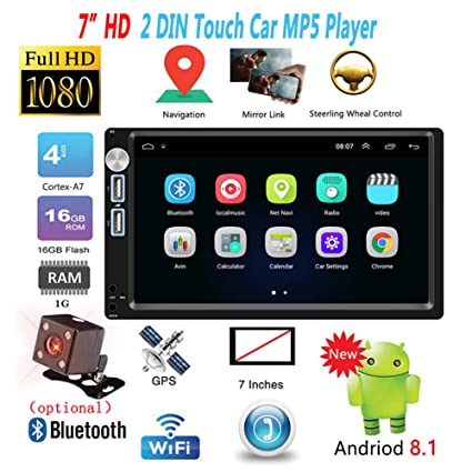 RONSHIN 2 DIN 7 Pulgadas Android 8.1 Car Radio Autoradio GPS Navigation Universal Car Multimedia Player BT FM Mirrorlink Stereo Audio A5