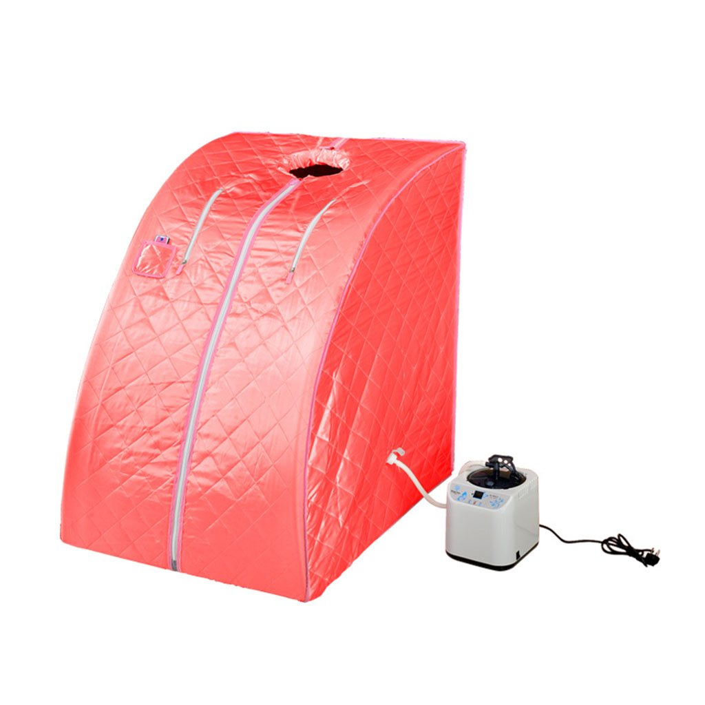 Red &Detoxification Steam Sauna,Portable Home Indoor Personal Spa Slimming Full Body Detox lose weight ( color   Purple )