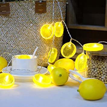 Amazon com: Sulida Novelty Lemon Fairy String Light