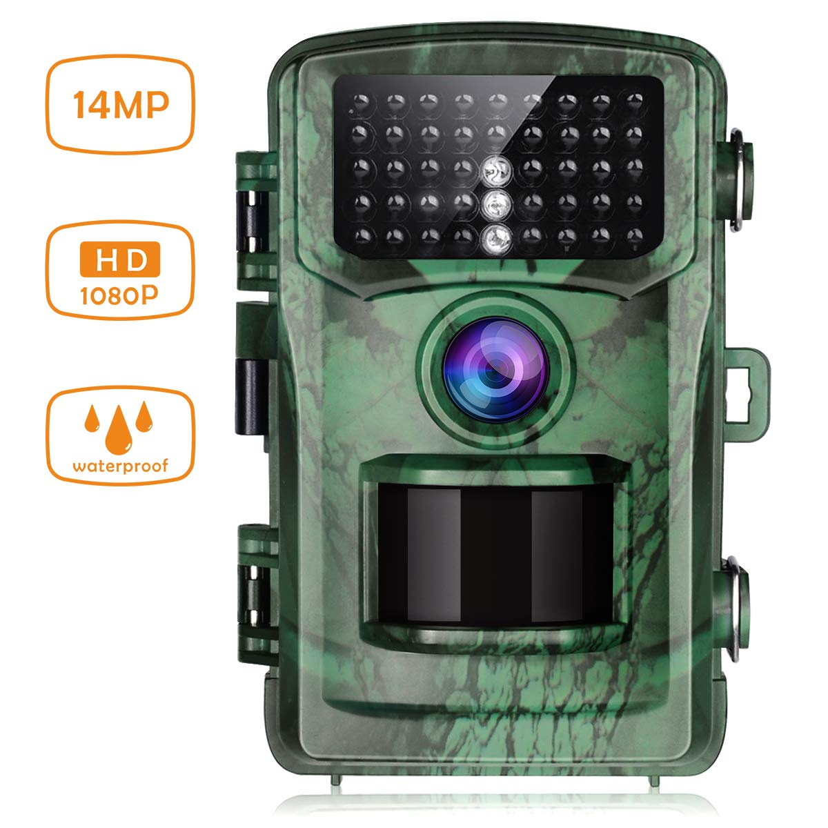 76a67d965bbc0 TOGUARD Trail Wildlife Camera 14MP 1080P Hunting Camera Motion Activated  Night Vision 22M Trap Game Camera with 2.4