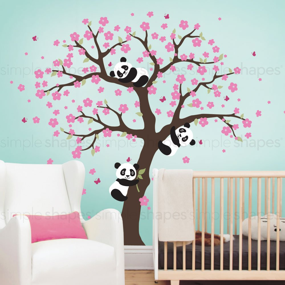 Color Scheme B - Brown Tree Elegant Style Simple Shapes Brown Cherry Blossom Tree
